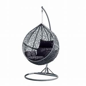 Fauteuil En Forme D Oeuf : fauteuil suspendu escamotable en r sine tress e forme uf ~ Teatrodelosmanantiales.com Idées de Décoration