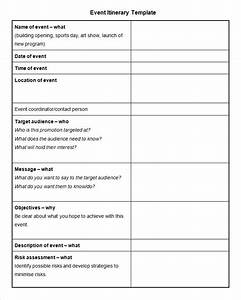 event itinerary template 5 free word documents download With event brief template