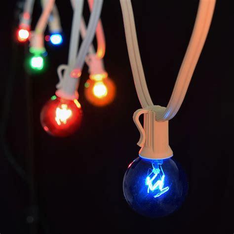 multi color globe string lights 25 white strand