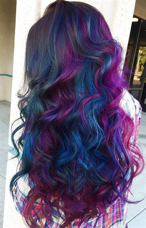 examples   oilslick hair color trend   nails beauty tips oil slick