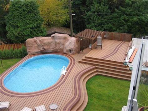 Deck Around Semi Inground Pool