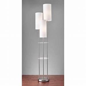 trio brushed steel three light floor lamp adesso shaded With trio 3 light floor lamp by adesso