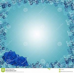 Birthday Greeting Card Background Design Floral Corner Design Blue Roses Stock Illustration