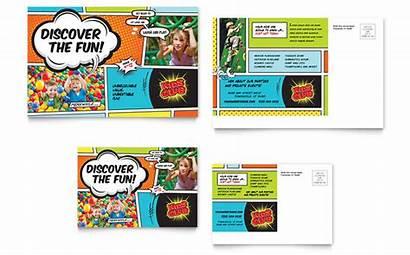 Club Postcard Template Card Rack Flyer Sample