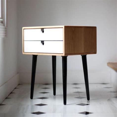 Wood nightstand / Bedside Table, Scandinavian Mid Century