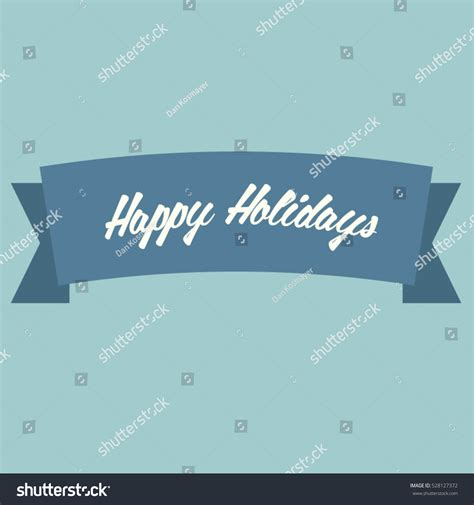 happy holidays greeting card sign vector stock vector