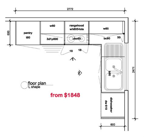 small open kitchen floor plans l shaped kitchen floor plans kitchen floor plan