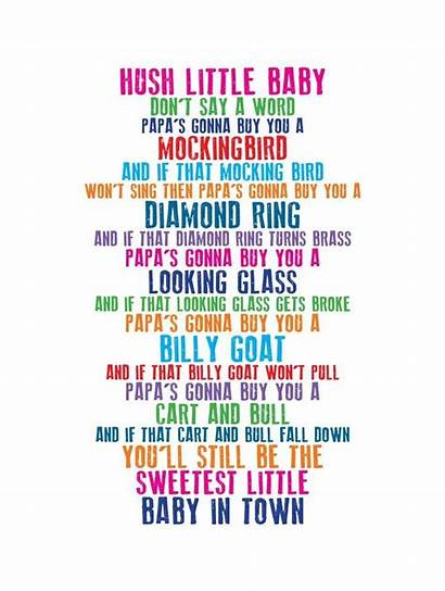 Nursery Lullaby Songs Hush Lyrics Say Rhyme