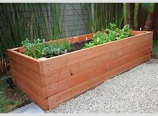 Building a Redwood Planter Raised Bed 8x3' Crafty