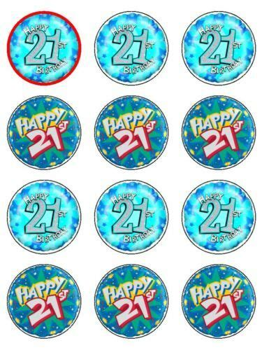 st birthday cake edible icing cupcake toppers ebay