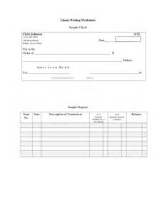 Blank Check Writing Worksheets