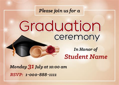 graduation party invitation cards  ms word word