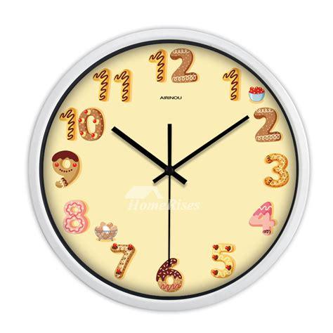cartoon kids wall clock quiet quartz bedroom animal
