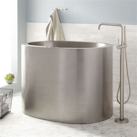 raksha stainless steel japanese soaking tub bathroom