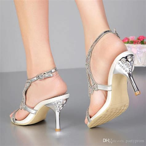 open toe  inches summer sexy high heel sandals silver