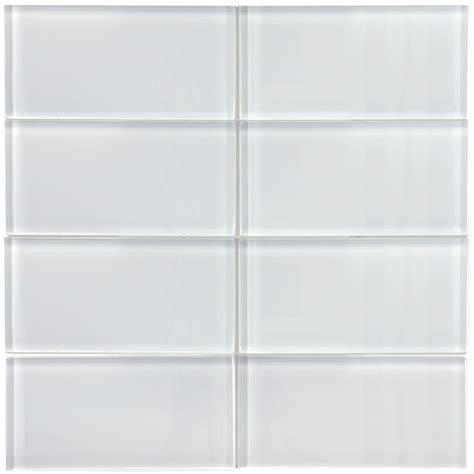 somertile 3x6 in reflections subway white glass tile
