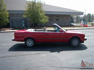 1987 Bmw 325i Convertible Red Cabrio E30 Automatic