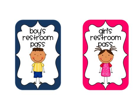 Bathroom Pass Ideas For Kindergarten restroom pictures cliparts co