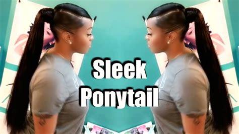 quick weave tutorial invisible sleek swoop ponytail  natural hair celie hair youtube