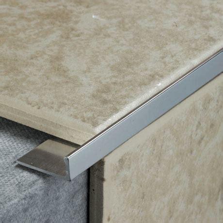 tile rite mm  shape metal tile trim silver victorian