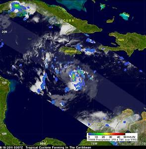 Tropical Cyclone Forming in the Caribbean | Precipitation ...