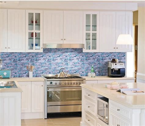white kitchen cabinets with blue glass backsplash 2018 11sf sea blue glass tile kitchen backsplash 2203