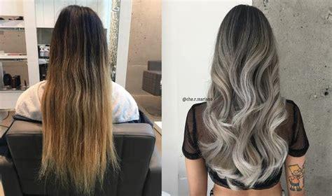 silver white ombre salon guys