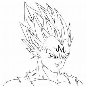Majin Vegeta Line by DanDup on deviantART