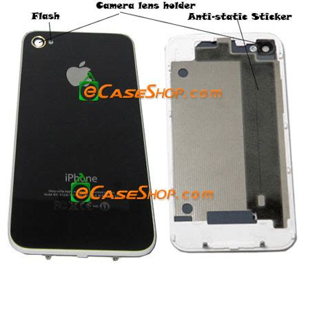 iphone 4 back glass replacement iphone 4 replacement back glass cover black
