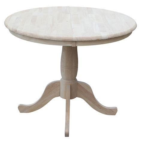 36 wide extendable dining table august grove 36 quot extendable round pedestal dining table