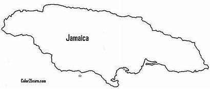Coloring Pages Jamaica Map Colouring Flag Google