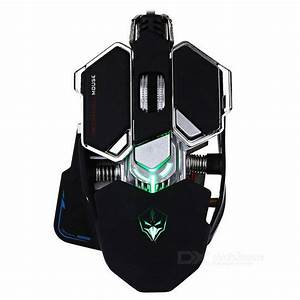 LUOM G10 4000dpi LED Optical USB Wired Mechanical Gaming ...
