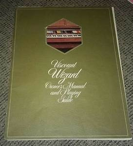 Viscount Wizard Electronic Organ Owners Manual And Playing