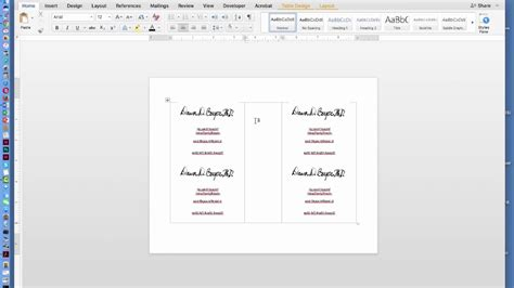 create  page flyer  ms office word document