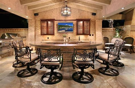 Outdoor Bar with TV