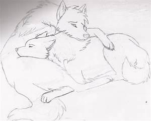 Wolf cuddle by LoneWolfTori on DeviantArt