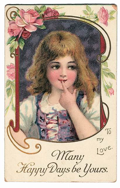 Graphic Valentine Gypsy Sweet Victorian Card Fairy