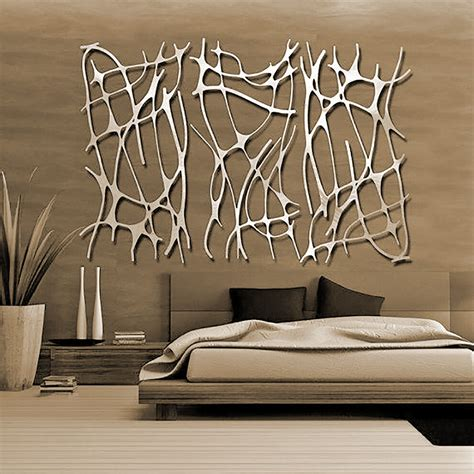 Decor Laser - abstract stainless steel wall sculpture metal decor