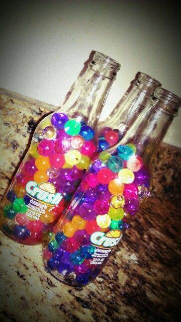 Put Orbeez In Old Fashioned Bottles For Party Decoration
