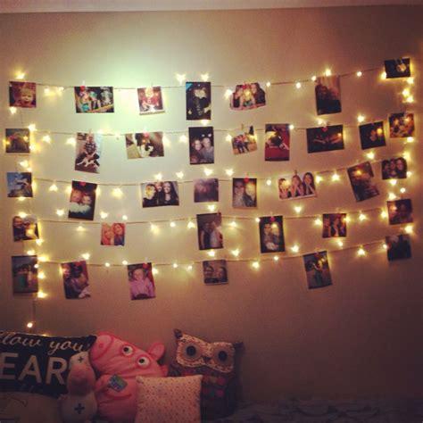 fairy light photo wall my dream room in 2019 bedroom