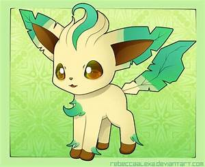 Leafeon Chibi by RebeccaAlexa.deviantart.com on ...