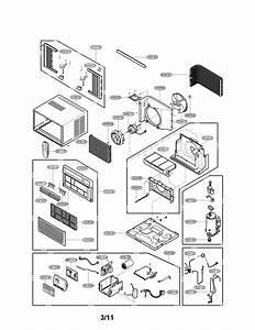 Lg Lw1210er  00 Room Air Conditioner Parts