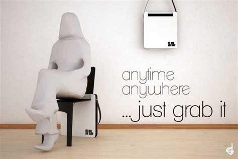 Portable Folding Chair Design, Bag Chair by Stevan Djurovic