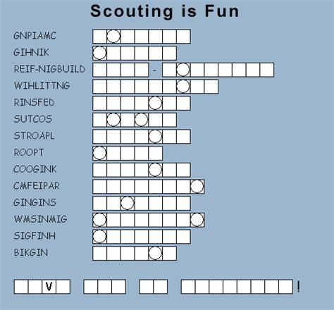 webelos puzzles  fun activities
