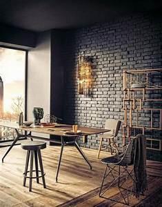 paredes de ladrillo a la vista en interiores ladrillo visto With amazing peindre un mur de couleur dans un salon 8 comment peindre les murs dune entree