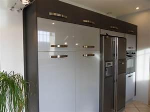 Frigo Americain Avec Glacon : cuisine avec frigo americain integre les ~ Premium-room.com Idées de Décoration
