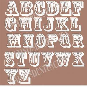 8 best images of custom lettering stencils word art With western alphabet letter art