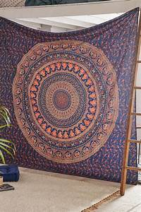 Blue wall decor hippie tapestries bohemian mandala