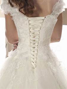 Elegant photos of lace up corset wedding dresses cherry for Lace up wedding dresses