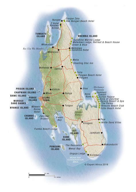 map  zanzibar  pemba islands  tanzania
